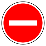 car-entry-prohibition-sign